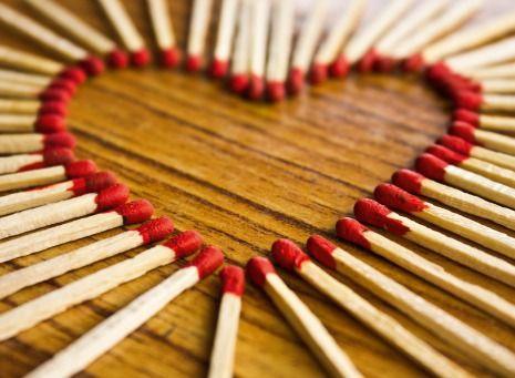 Light my Heart on Fire | @FairMail - Fair Trade Cards - Valentine's Day Cards - FDP6363A | Heart, Love, Match, Match Sticks