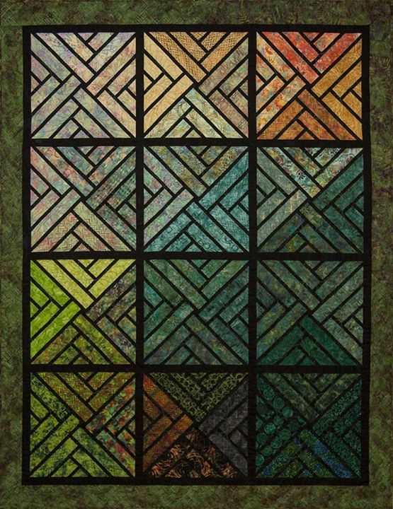 SNEAK PEEK!: The Fractured Paint Box! In a 3 x 4 Layout, using one set of Quiltworx.com Bali Pops!