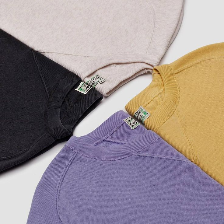 Join the Bay Meadows bandwagon! New color drops in our staple 1940s sweatshirt - Black, White Mele, Faded Banana and Faded Violet.   #levisvintageclothing