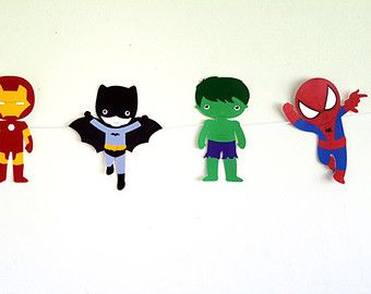 Superhero Inspired Party Bags di MagicalBoutique su Etsy