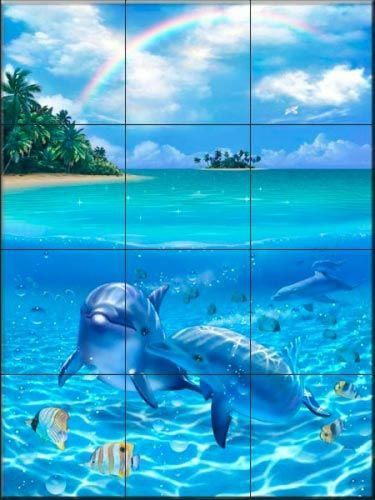 Pin By Home Hearts On Improve Your Home In 2020 With Images Dolphins Salt Water Fishing Tile Murals