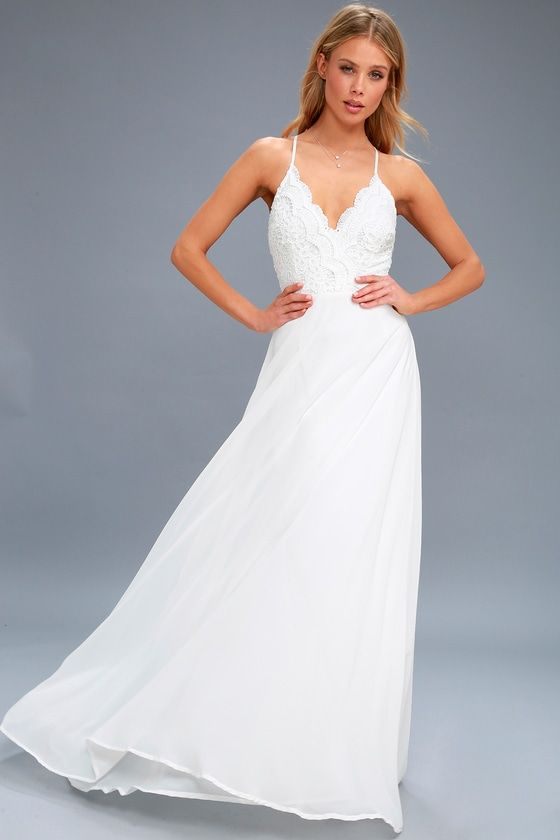Madalyn White Lace Maxi Dress 2