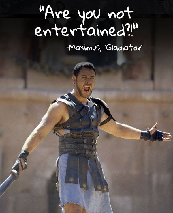 Russell Crowe's moment of glory in 'Gladiator' — 15 Visual Movie Quotes That Will Reaffirm Your Love for Film