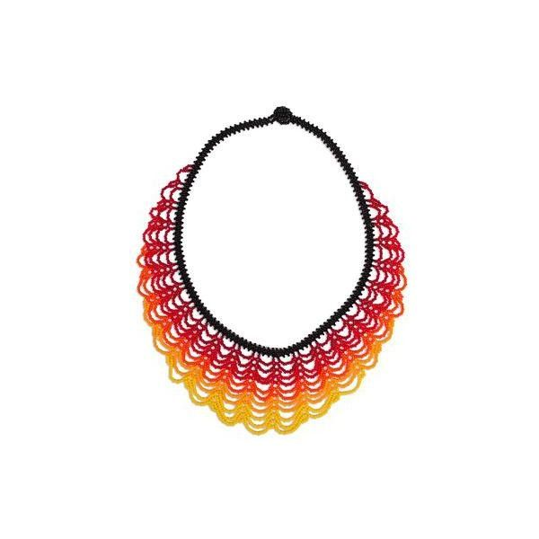 NOVICA Handcrafted Beaded Statement Necklace from Mexico ($45) ❤ liked on Polyvore featuring jewelry, necklaces, statement, yellow, handcrafted necklaces, string bead necklace, handcrafted jewelry, handcrafted jewellery and yellow statement necklace