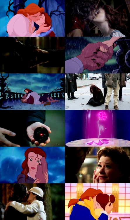 RumBelle/Beauty and the Beast parallels - seasons one to four 4 - by rebelside on Tumblr
