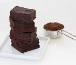 Flourless chocolaty brownies—black beans add moisture and fudgy texture. It's your secret that they are gluten-free.