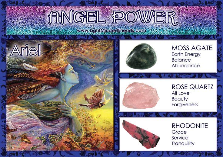 Angel Power: Ariel - Stones: Moss Agate, Rose Quartz and Rhodonite
