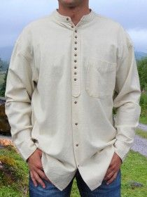 Traditional Grandfather Shirt SC506 Stone