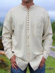 Traditional Grandfather Shirt SC506 Stone