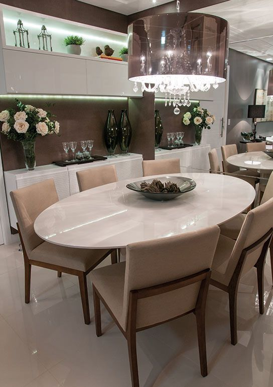 mesa de jantar oval em laca branca - Pesquisa Google