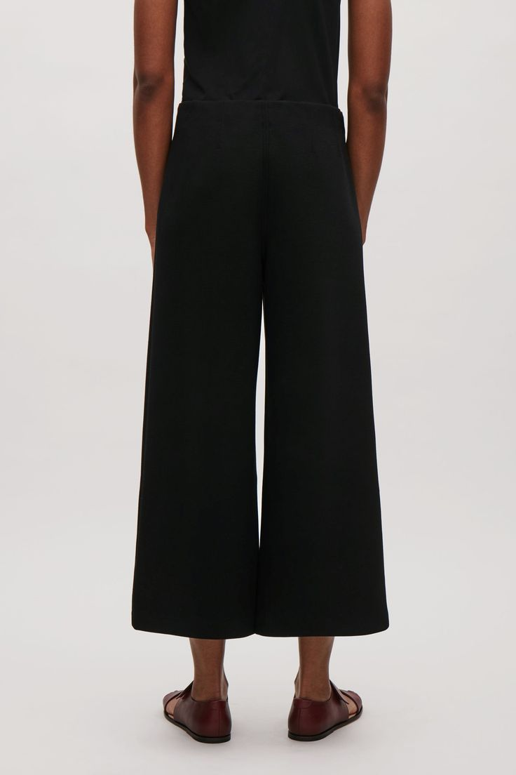COS Trousers with topstitch darts in Black