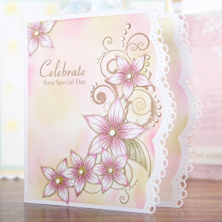 Stunning pastel #carddesign from the Relatively Small Words Collection! Shop now at C+C: http://www.createandcraft.tv/pp/honey-doo-crafts-relatively-little-words-345697?p=1 #cardmaking #papercraft