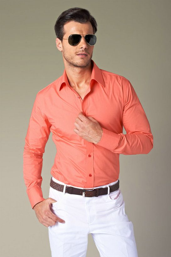 Orange Shirts For Mens