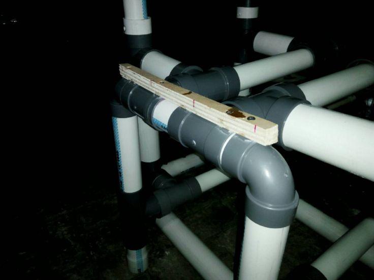 Pemakuan kayu pada paralon