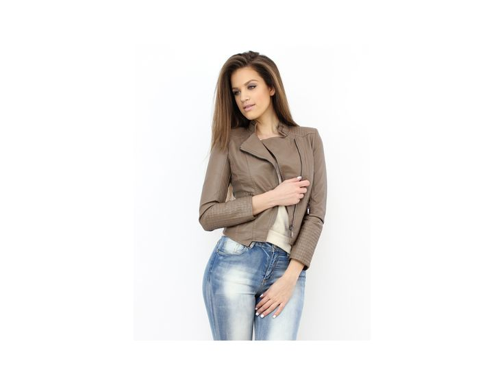 Jachetă Scurtă Piele Ecologică - PRODUSE NOI - Famevogue- Faux Leather Cropped Jacket #jacket #casual #style #fashion #trends