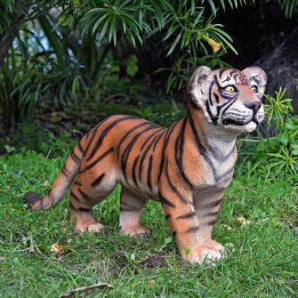 The Grand Scale Wildlife Animal Collection: Standing Bengal Tiger Cub Statue  $199.00