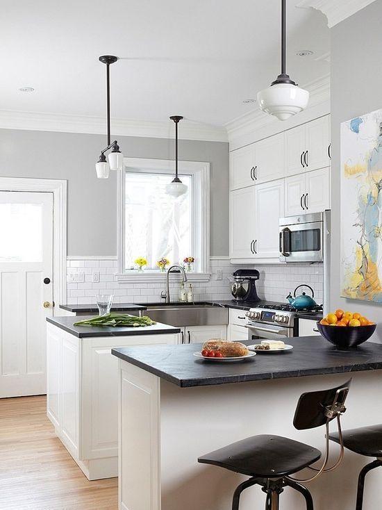 Colores para cocinas 2017 70 fotos y tendencias modernas for Cocinas pequenas decoradas modernas