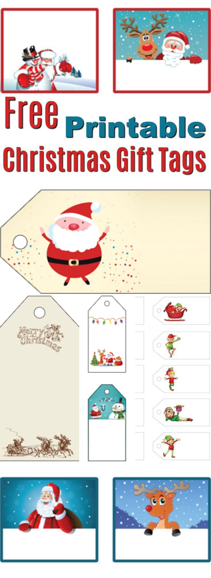 Do you love Free Printable Christmas Gift Tags? Us too! That's why we've created these adorable Free Printable Christmas Gift Tags and Labels! Just Click and Print!