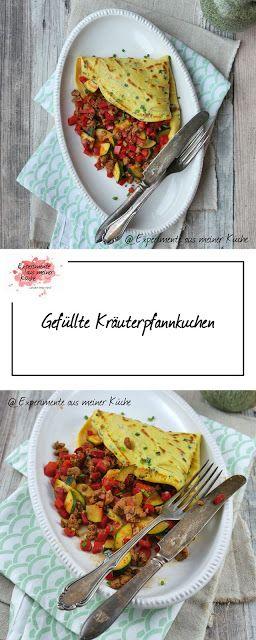 Gefüllte Kräuterpfannkuchen #meinkleinergarten   Rezept   Kochen
