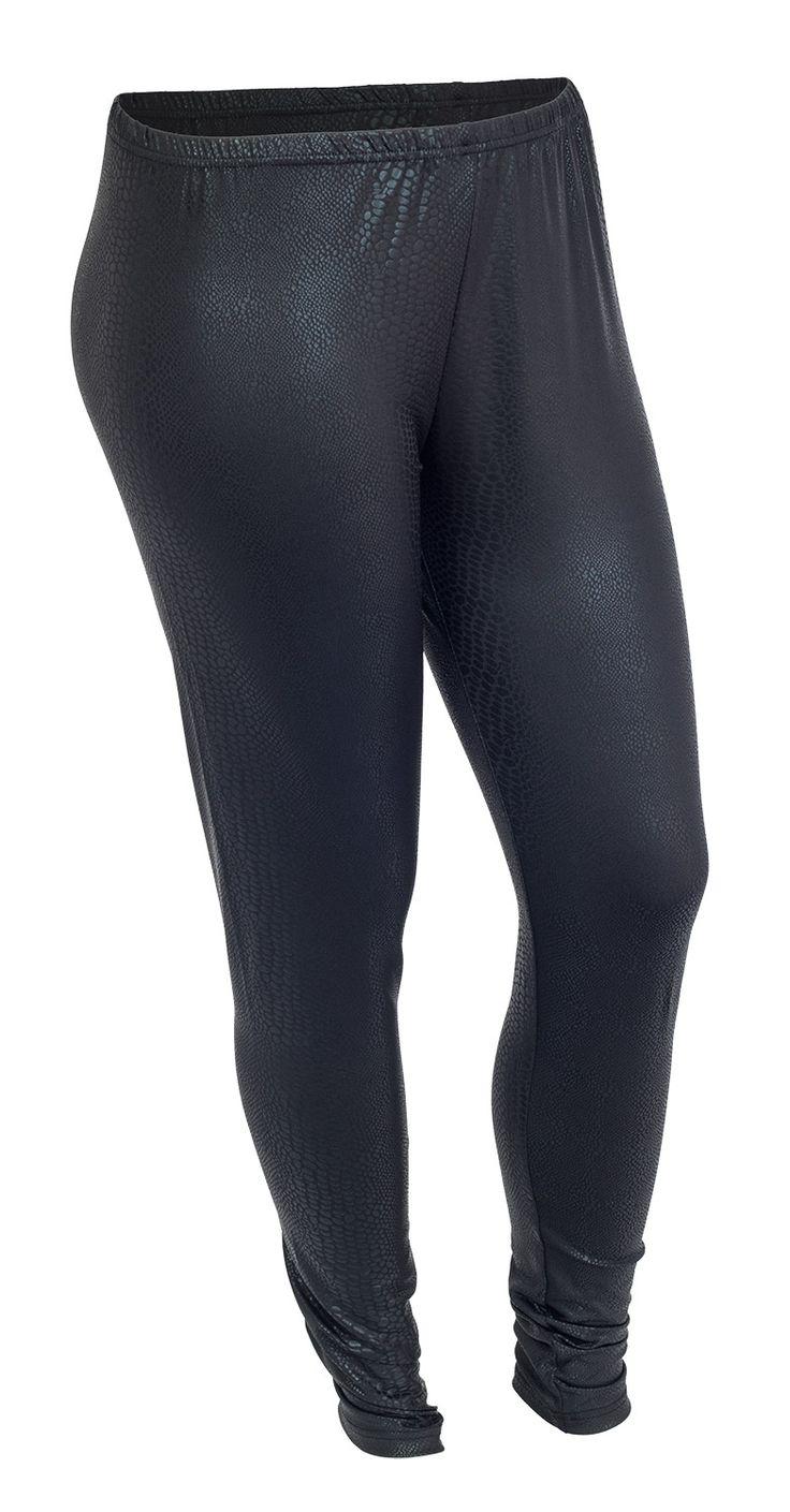 Mega seje Sorte leggings med slangeskinds mønster Zhenzi Modetøj til Damer i lækker kvalitet