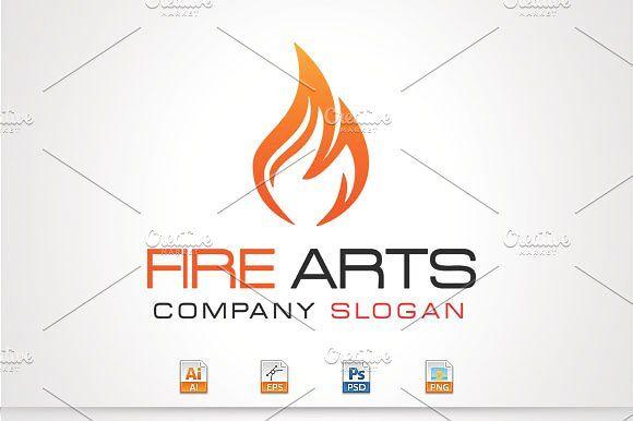 Fire Arts ArtLogo TemplatesVector
