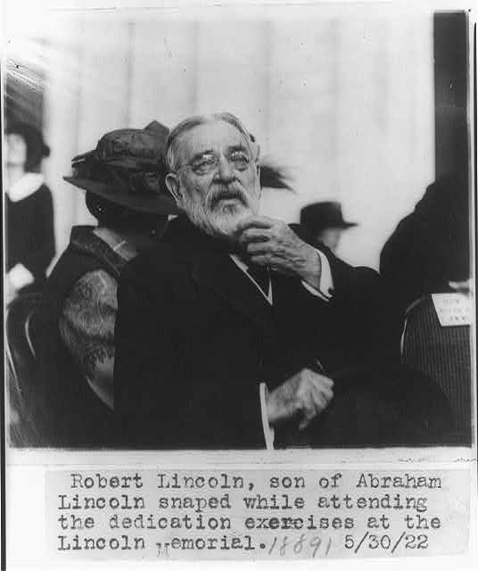 Robert Todd Lincoln (1922) Attends dedication to father's Memorial.