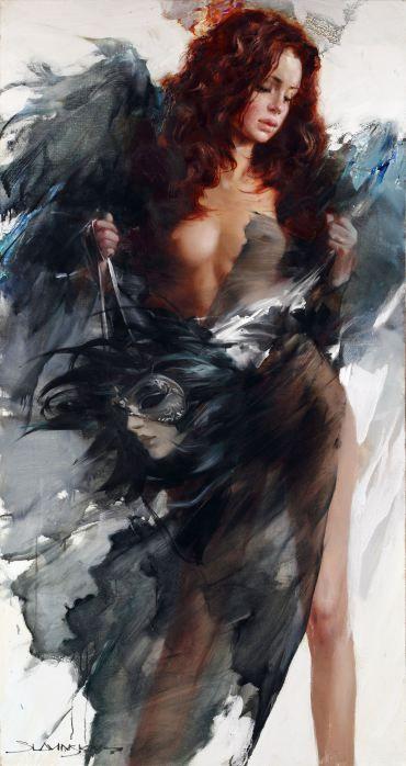 Artist Ivan Slavinsky : Angel of Venice Year: 2012 Size of Canvas: H:170cm x…