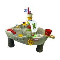 Little Tikes - Watertafel Piraten Spelen met water vinden kinderen geweldig. Met deze watertafel met als thema piraten wordt het helemaal een feest! Er zitten twee speelfiguren bij, een water spuitende haai, een waterkanon, een anker en een stromende fontein! Leuk speelgoed voor in de badkamer of heerlijk buiten op warme dagen! http://www.geschiktspeelgoed.nl/product/little-tikes-watertafel-piraten/