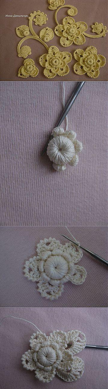 Мк цветка от автора Инны Данильчук.