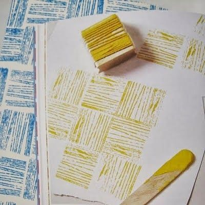 The Lab on the Roof: DIY stamps part 1: Pencils and Yarn