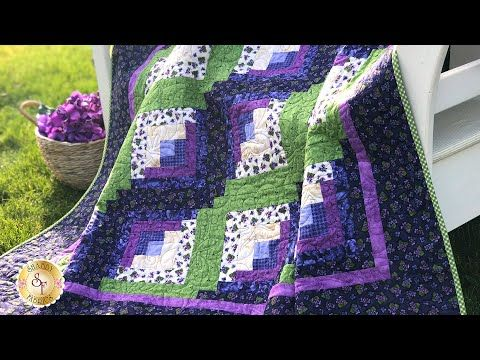 Curvy Log Cabin Quilt Pattern