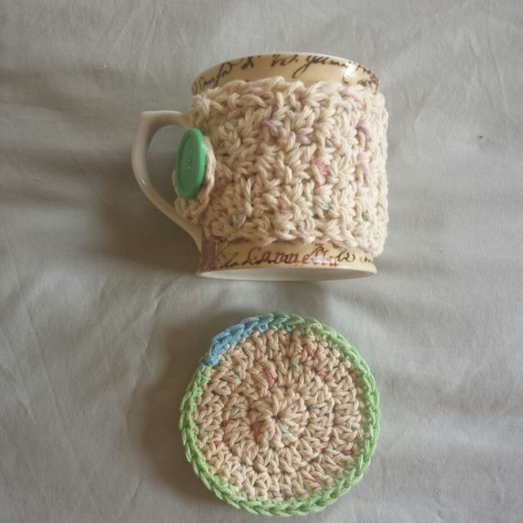 Free Crochet Mug Coaster Pattern : 59 best images about ~crochet cup cozies~ on Pinterest ...