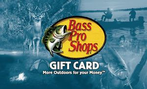 Buy $50 Bass Pro Shops Gift CardFREE $5 ChevronTexaco Gas Card!!-Free Mail Delivery
