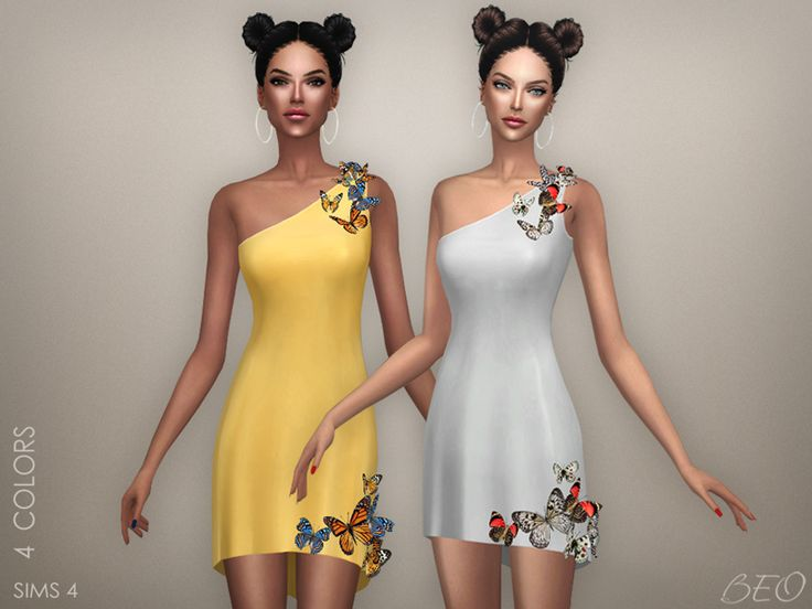 Butterflies - multicolor for The Sims 4 by BEO
