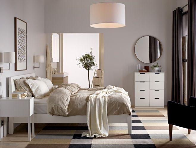 NORDLI bed IKEA  bedroom  Ikea bedroom Bedroom decor en Bedside table ikea