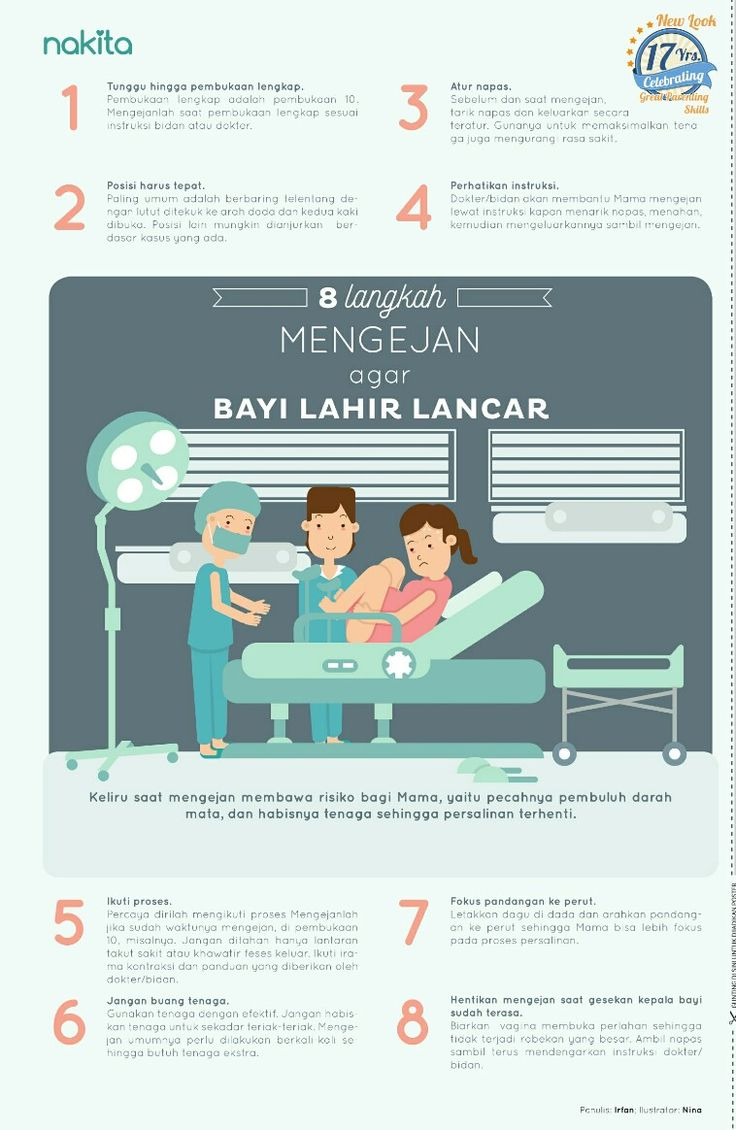 Berikut 8 langkah mengejan agar bayi lahir lancar.   #eduposternakita #tabloidnakita