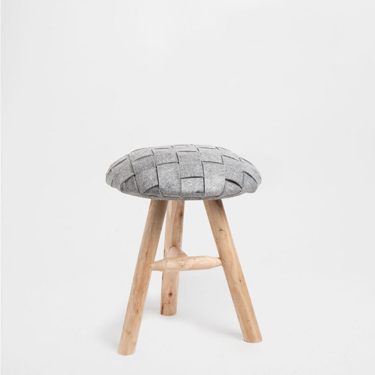 STOOL WITH FELT SEAT