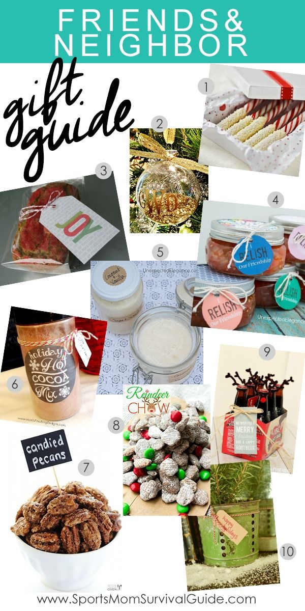 Find a great guide for Holiday Gifts for Neighbors & Friends! You are sure to find something for everyone on your list.