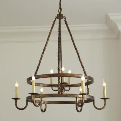 Ella 9 Light Chandelier - mediterranean - chandeliers - - by Ballard Designs