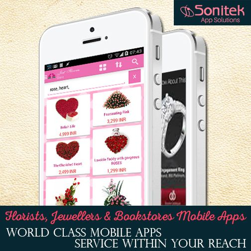 Special Apps Development Services for Florists, Bookstores and Jewelers! Know More Here: www.sonitekapps.in  #SonitekApps #AndroidApps #iPhoneApps #iPadApps #entrepreneurs #appsdevelopment