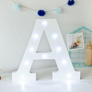 White Light Up Letters - decorative letters