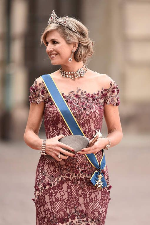 Queen Maxima at the wedding of Prince Carl Philip and Sofia Hellqvist, Royal Palace, Stockholm, Sweden - June 13, 2015