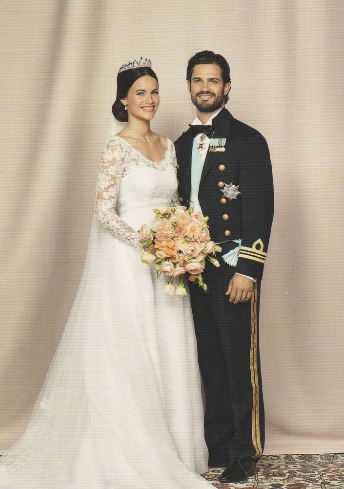 PRINZESSIN SOFIA-PRINZ CARL PHILIP-Adel-ROYAL WEDDING-ORIGINAL POSTKARTE-Sweden