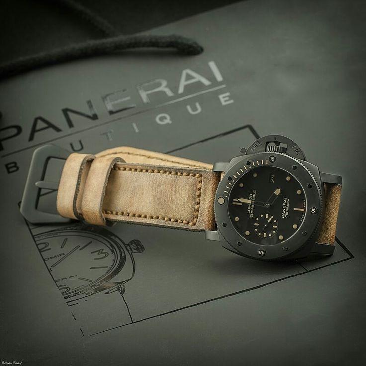 MI4 serie, Panerai strap, watchstraps, Watchband, leatherstrap, from Gunny Straps, pam508, Pam 508, Panerai, black panerai