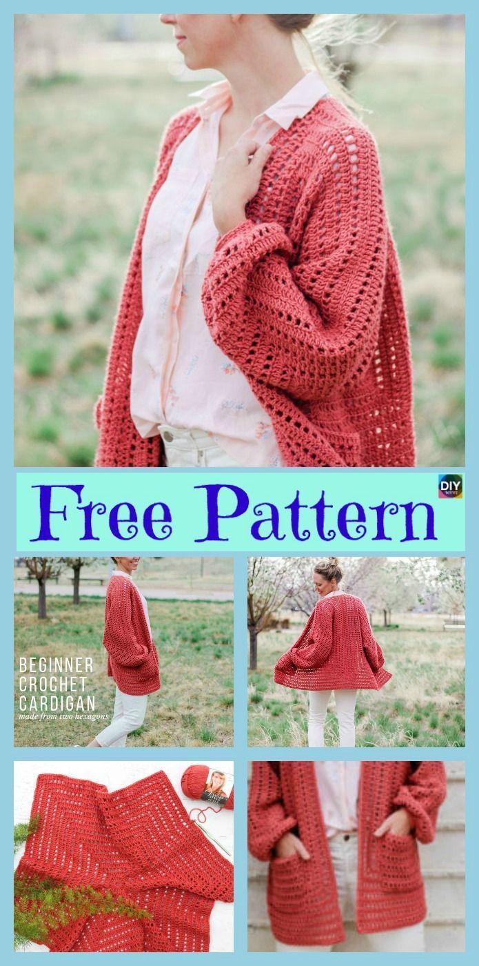 5 Beautiful Crochet Sweater Free Patterns Pinterest Crochet