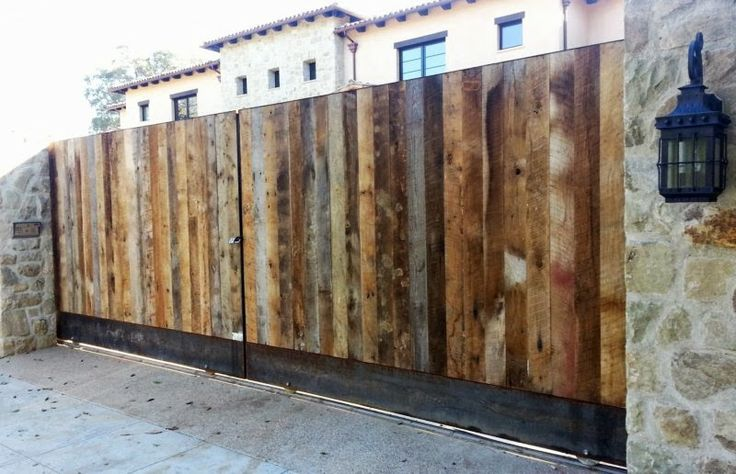 55 best driveway gates los angeles images on pinterest for Reclaimed lumber los angeles