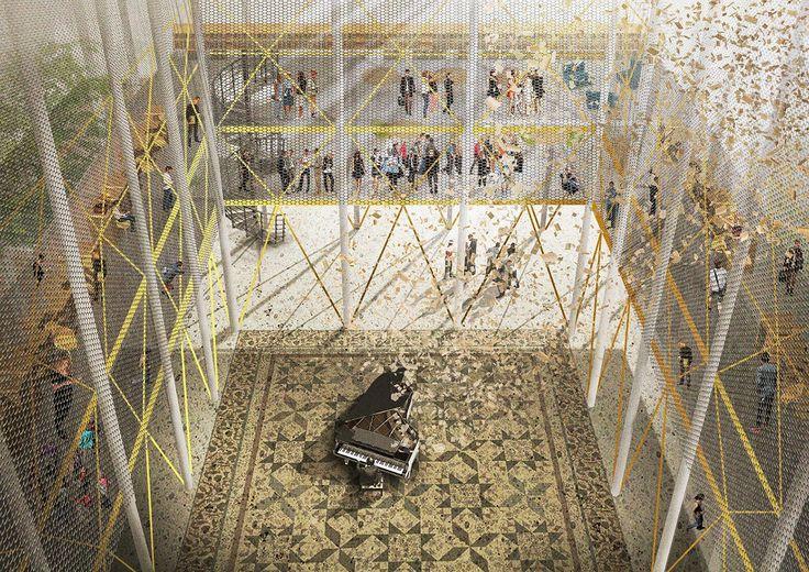 "Image result for Second Prize: In-Between /  Universitatea de Arhitectura si Urbanism ""Ion Mincu"". Image Courtesy of Bee Breeder"