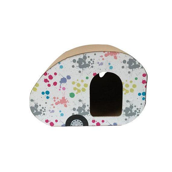 Sketch Camper smart cardboard cat house pet furniture cardboard cat house miniature Vehicles cats unique cat furniture