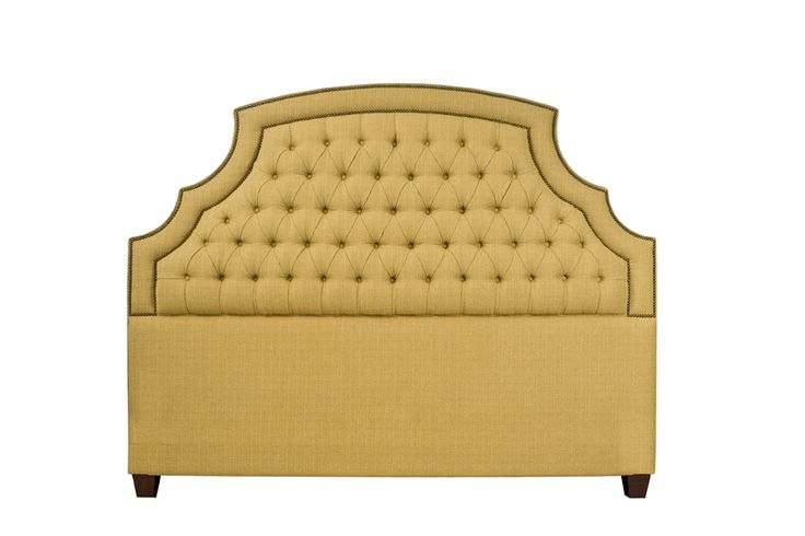Hampton Estate Custom Upholstered Bed or Headboard size F-K  available upholstered in other fabrics. DesignNashville.com shipping to all locations