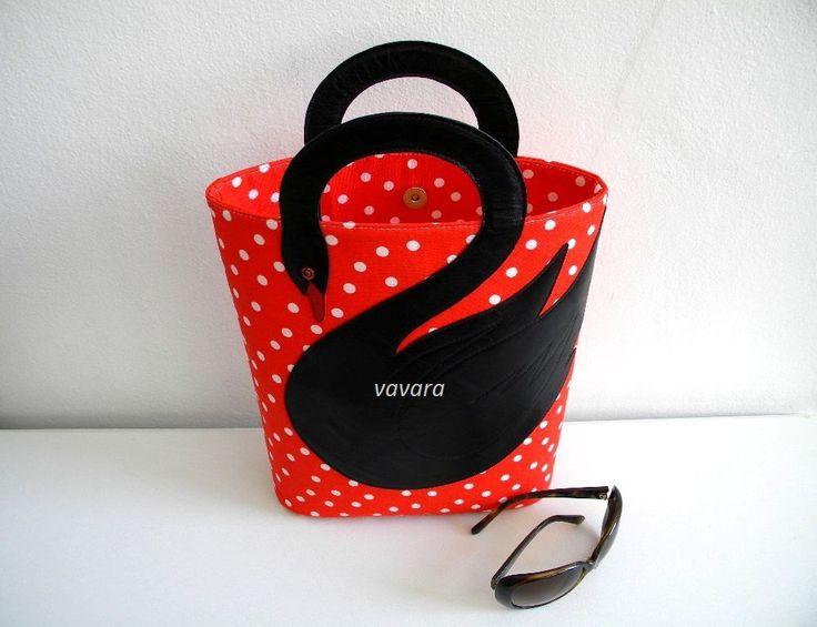 Swan's street bag by VaVaRa on Etsy